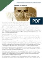 Viktor Frankl El Enigma Del Sufrimiento