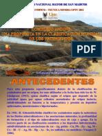 Colombia Complejo Andino Clasif. Mund. de Yacim.