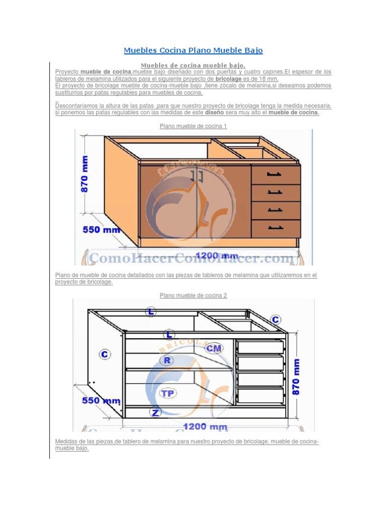 Beautiful Medidas Muebles Cocina Pictures - Casa & Diseño Ideas ...