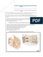 Plano Como Hacer Un Mueble de Cocina en Melamina Proyecto 2 Repostero Alacena