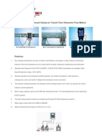 Series DMTFB Wall-mount Clamp-On Transit Time Ultrasonic Flow Meters