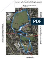 Woodley parkrun Km Markers Map