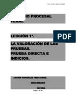 Leccion Primera - Derecho Procesal Penal - La Valoracion de Las Pruebas - Prueba Directa e Individual