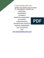 Marketing Report on Bharti Airtel