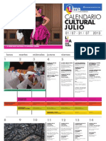 Calendario Cultural - Julio 2013