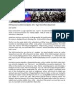 FOP Response to USDOJ Investigation of the City of Miami Police Department 7-9-13