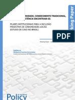 Onde Biodiversidade, Conhecimento tradicional, saúde e subsistência encontram-se - Working Paper