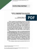 Sentido y requerimientos de una teoría de las literaturas latinoamericanas