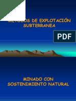 METODOS DE EXPLOTACIÓN SUBTERRÁNEA