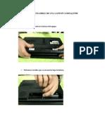 Desensamble de Una Laptop Compaq f500