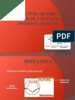 Estructura Quimica y Actividad de Los Farmacos Antihistaminicos Exponer