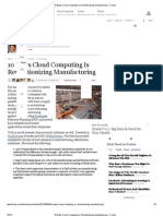 Cloud Computing is Revolutionizing Manufacturing - Forbes