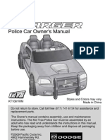 KT1081 Dodge Charger Police Car Owners Manual