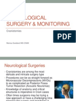 Craniotomy & Neuromonitoring