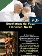 Enseñanzas Papa Francisco No. 13