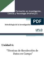Profincyt - Métodología Cualitativa - U6