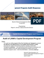 Capital Development Program Audit Response