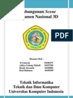 Pembangunan Scene Monumen Nasional 3D