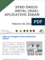 Capacitación Aplicativos del IDEAM RUA