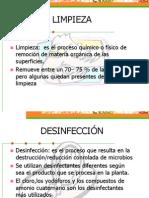 LIMPIEZA + DESINFECCIÓN, PLAGAS