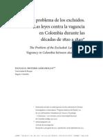 Leyes de Vagancia Colombia, 1820-1840, Natalia Botero Jaramillo
