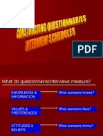 Constructing Questionnaires Interviews