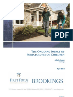 The Ongoing Impact of Foreclosures on Children
