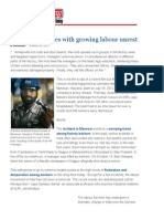India Inc Grapples With Growing Labour Unrest