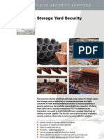 Specialist Site Security Services for Storage Yards