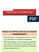 DEFECTOS DE REFRACCIÓN