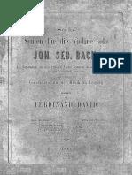 Bach 6 Suites for Cello Solo David Heinze 1866 for Violin Solo
