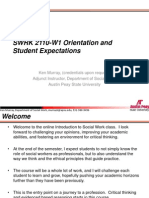 Intro to SOcial WOrk Expectations