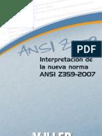 ANSI-z 359.1 Spanish