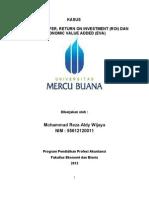 Akuntansi Manajemen & Biaya - Kasus Harga Transfer, ROI, EVA