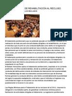 EL TRATAMIENTO DE REHABILITACIÓN AL RECLUSO
