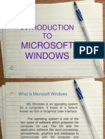 LECTURE 6.Introduction to MS Windows