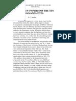 THE HEBREW PAPYRUS OF THE TEN COMMANDMENTS (JQR, 1903)