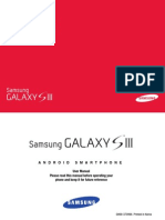Samsung Gallaxy S III Manual