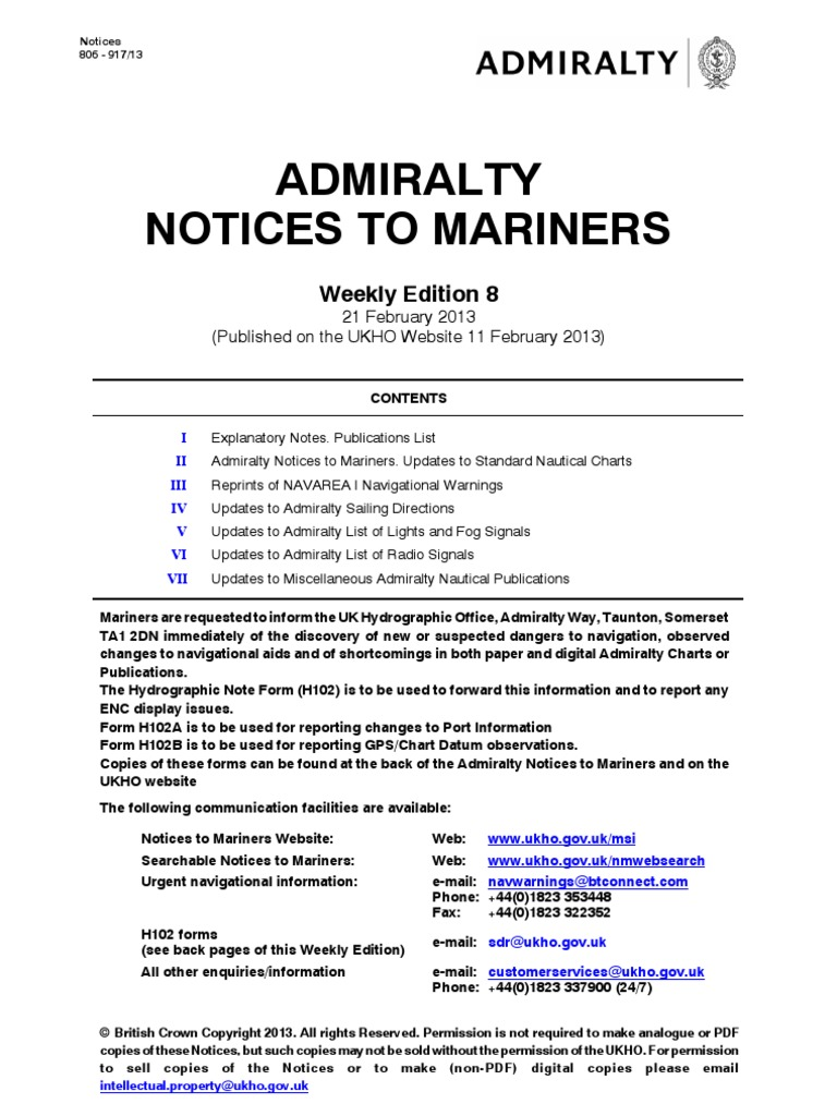 Notices to mariners week082013 hydrography websites geenschuldenfo Images
