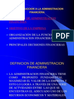 i. Introduccion a La Administracion Financiera