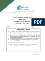 Atividade+da+AD2+de+Gestão+de+Marketing+I+-+2013+1º-1