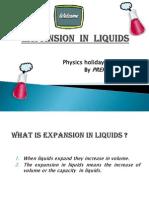 Expansion in Liquids