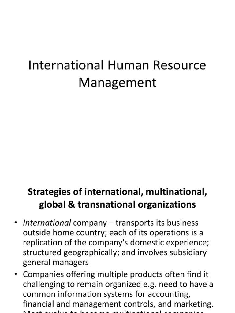 2-IHRM-2 | Multinational Corporation (7 views)