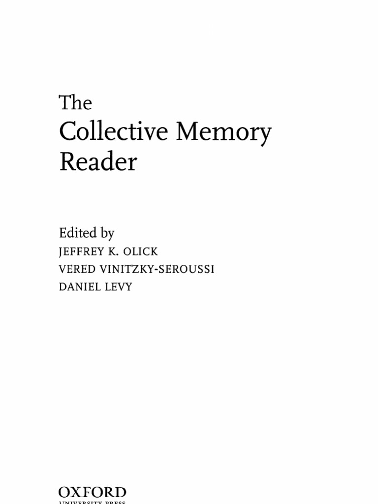 The collective memory reader sociology philosophical movements fandeluxe Images