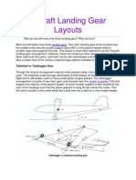 Aircraft Landing Gear Layouts