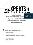 Expert Academy Product Outlines