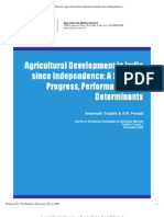 Agricultural Development in India Since Independence