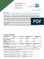 uel secondary gtp teaching profile 2012-13c2