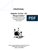 Contoh Proposal Permohonan Bantuan Dana Masjid