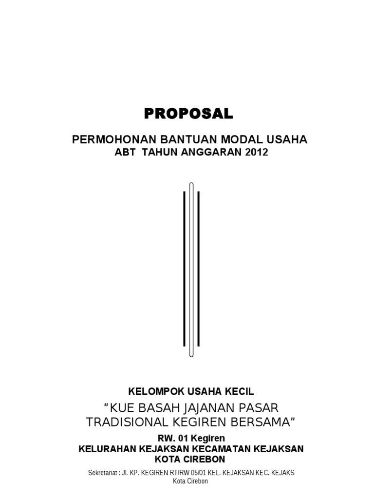 Contoh Proposal Bisnis Kue - retorika